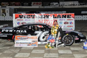 Jerick Johnson wins the 70th Annual Race of Champions Late Model Series for the second year in a row.
