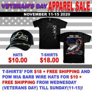 Veterans Day Apparel Sale